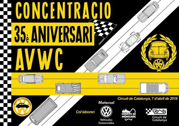 Concentración 35º Aniversario Amics del Volkswagen de Catalunya - 7 y 8 de abril 35eaniversariAVWCpetit