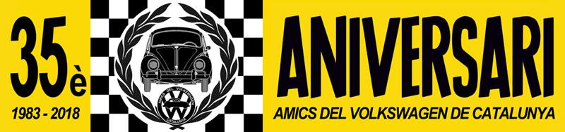 Concentración 35º Aniversario Amics del Volkswagen de Catalunya - 7 y 8 de abril Logoaniversari